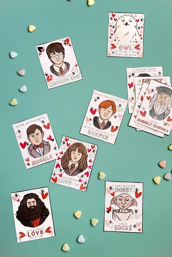 I {heart} Harry Potter Printable Valentines   Harry potter ...