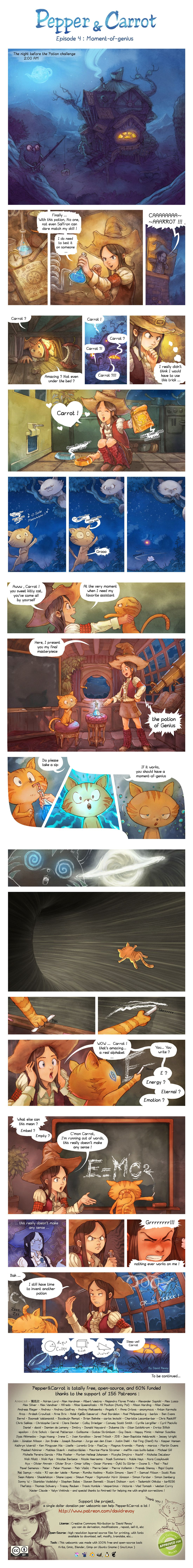 'Pepper and Carrot' Ep 4 : Moment-of-genius by Deevad.deviantart.com on @deviantART