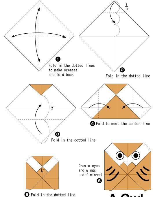 Origami Guide Wp Content Uploads 2012 01 Owl 1