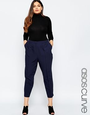 61925fb71 ASOS CURVE Cigarette Trouser In Crepe