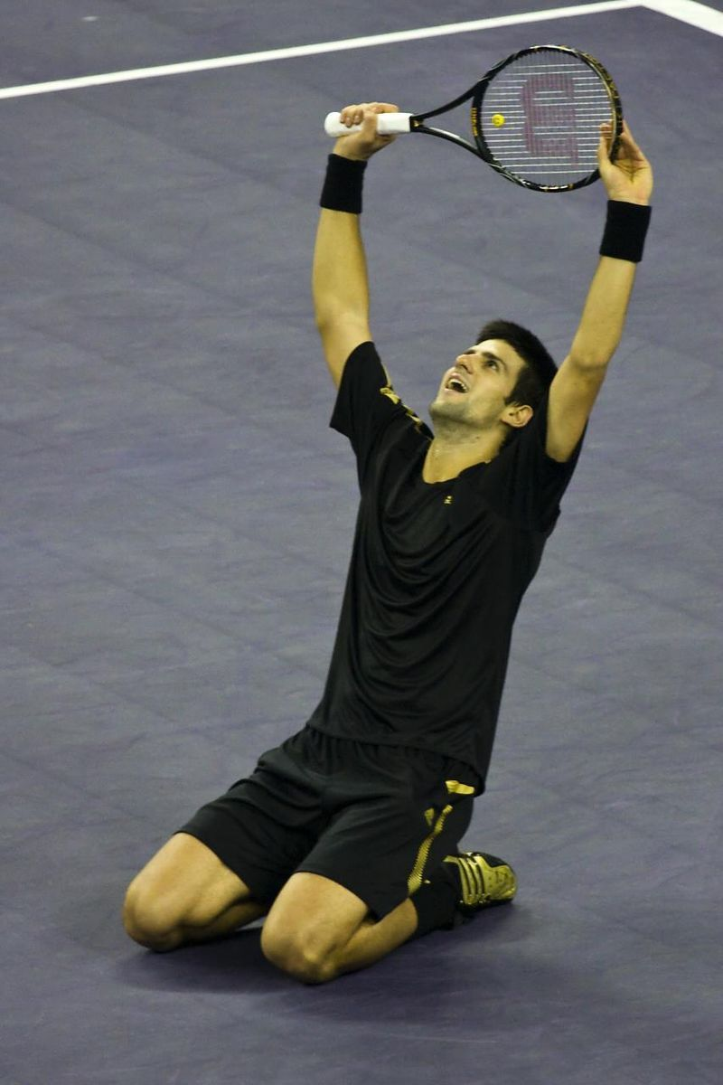 Novak Djokovic During The 2008 Tennis Masters Cup Final3 Novak Djokovic Wikipedia The Free Encyclopedia Learningtopl Novak Djokovic Tennis Workout Tennis