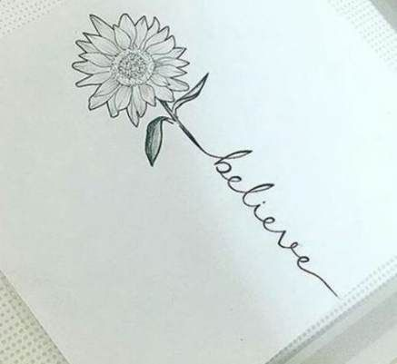 New Tattoo Sunflower Collar Bone Fonts Ideas