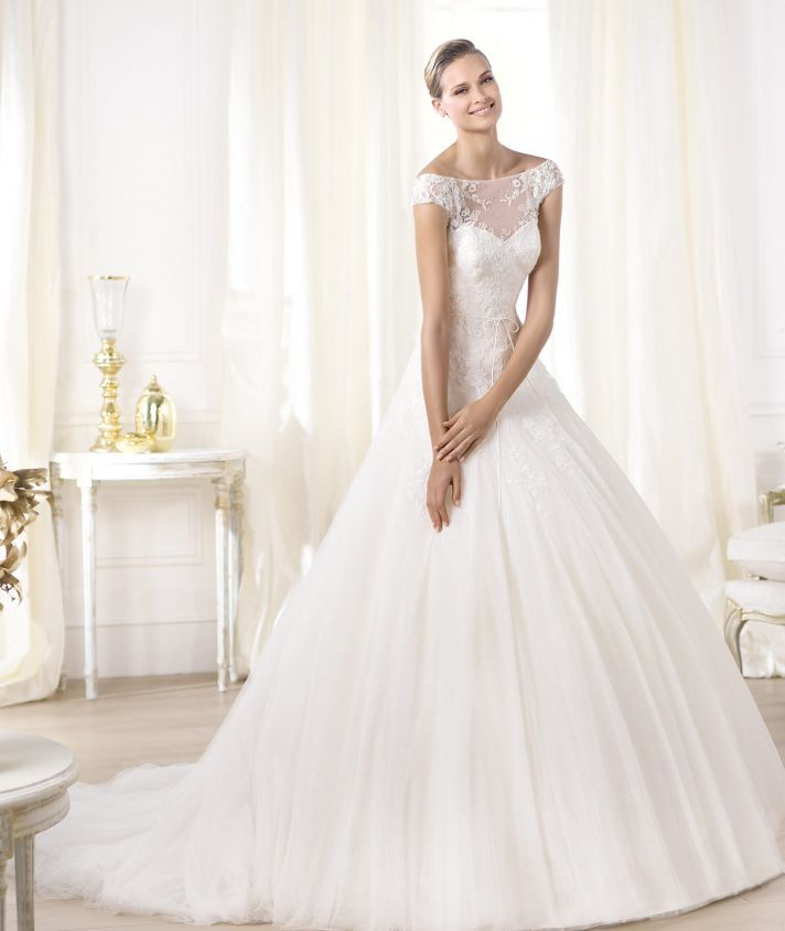13 dreamy bridal gowns from the new glamour collection illusion pronovias wedding dress pre 2014 glamour bridal collection leonela junglespirit Gallery