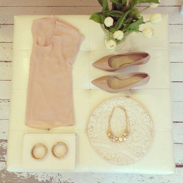 Neutral palette & blushy pink #neutrals #style #lace #accessories - @Giselle Shop- #webstagram