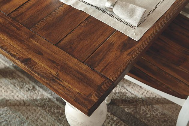 Two Tone Marsilona Dining Room Table View 5 Roswell