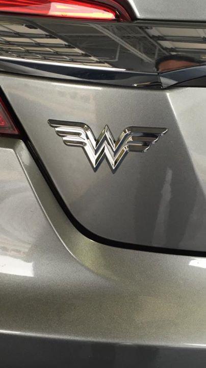 Wonder Woman Logo Chrome Car Decal