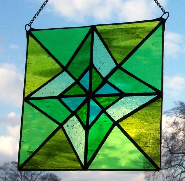 Stained Glass Geometric Panel With Images Stained Glass