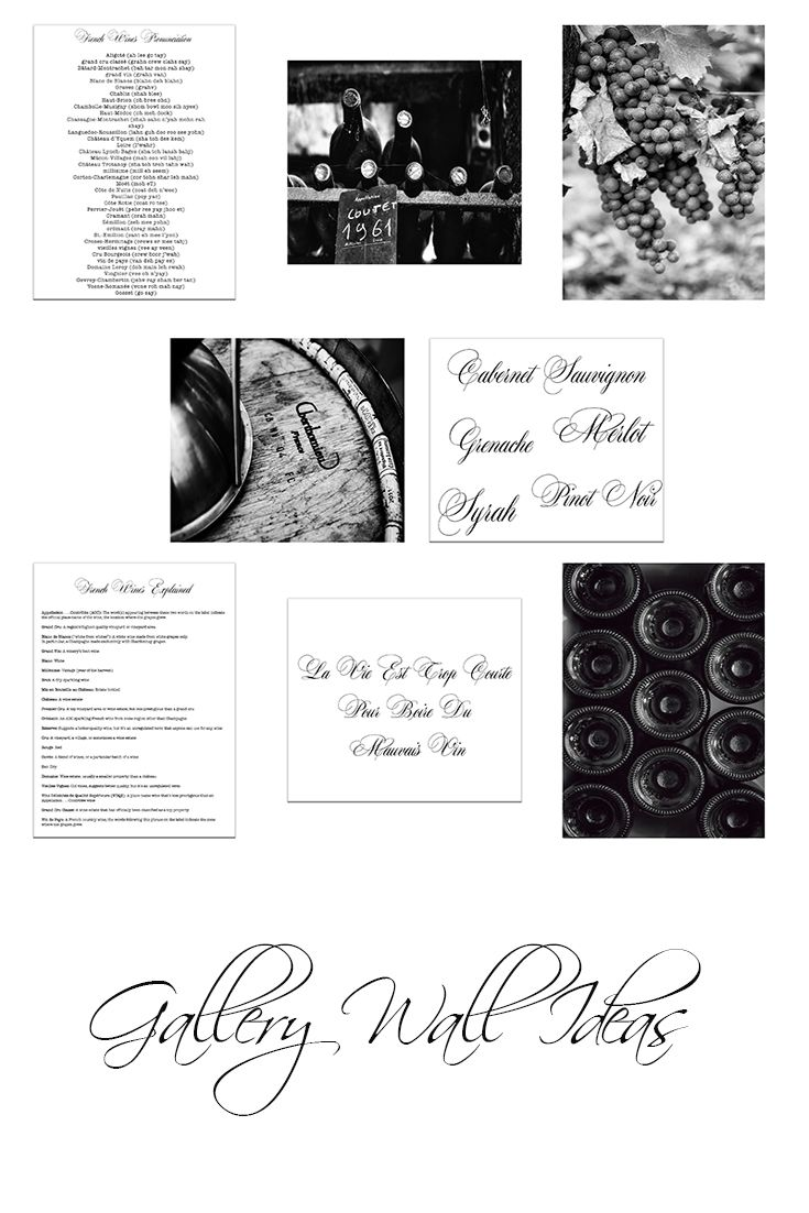 Print Set of 8 Rustic Wall Decor, Winery Art Prints, Rustic Kitchen ...