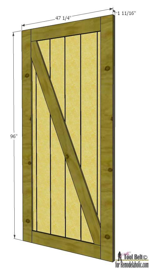 Build A Beautiful Sliding Barn Door With Great Detail Using Siding
