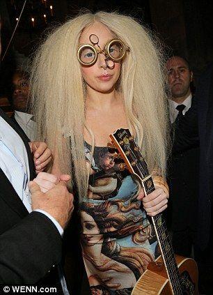 Lady Gaga in Steampunk Glasses