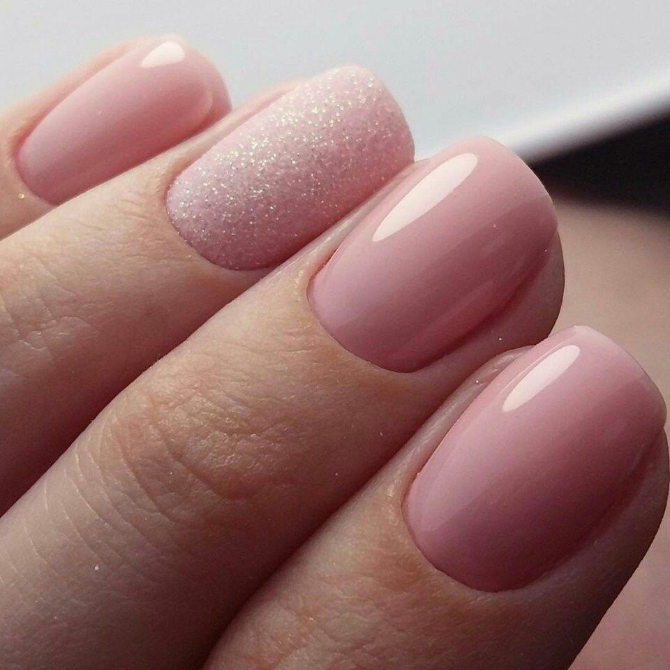 Tender and lovely nude nails