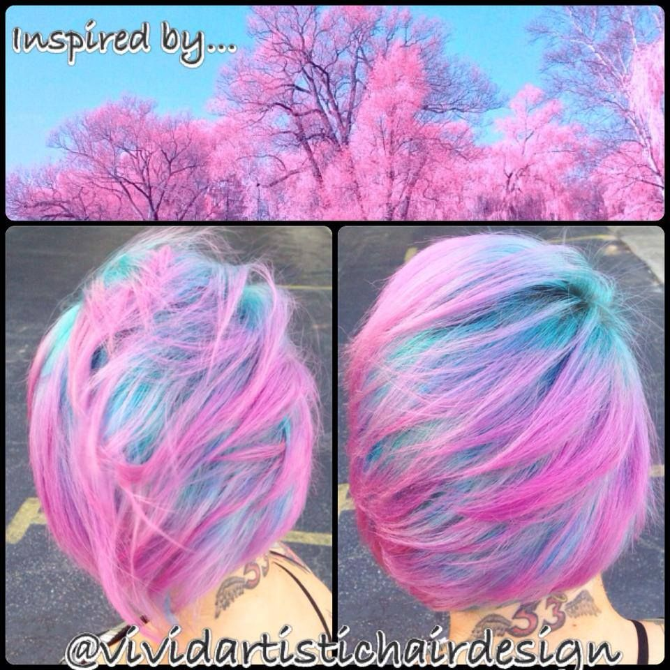 Hair by hairstylist rebeccataylor at vivid artistic hair design in