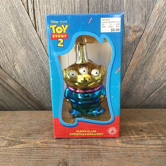 Vintage Toy Story Alien Christmas Ornaments Blown Glass Toy Story Alien Disney Toys Vintage Disney