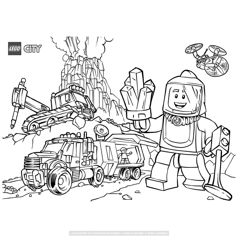 lego city vulkaan lego kleurplaten kleurplaten en lego