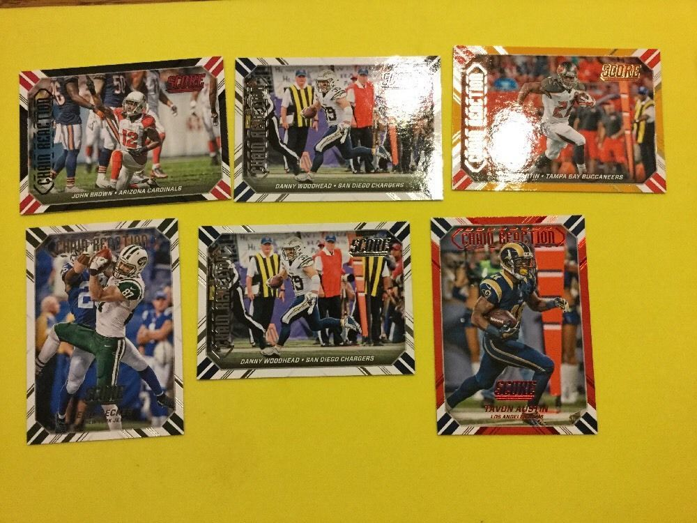 2016 SCORE CHAIN REACTION VARIOUS PLAYERS/TEAMS INC JOHN BROWN LOT OF 6 #ArizonaCardinals