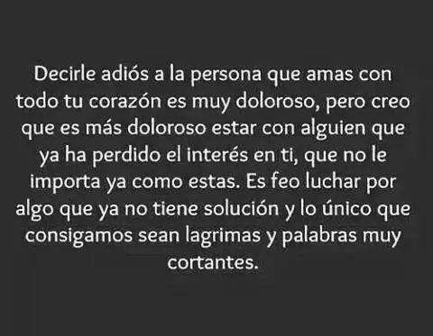 〽️ Decirle adiós a la persona que amas con todo tu corazón es muy doloroso...