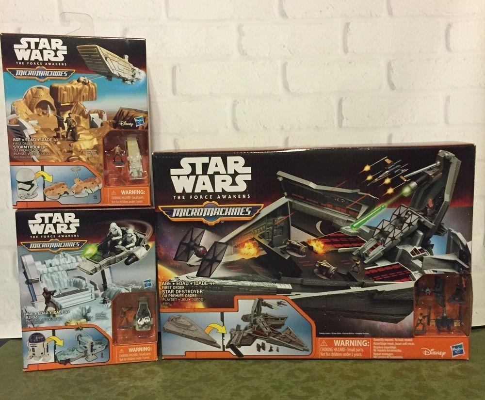 New Star Wars The Force Awakens Micro Machines R2-D2 Playset NIB
