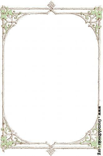 picture free clip art victorian border of brown twigs and green rh pinterest com Fancy Borders Clip Art victorian border clip art free