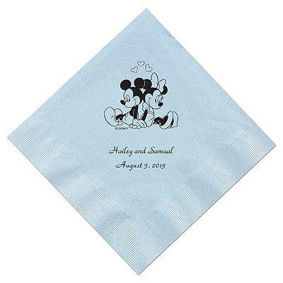 A Classic - Disney Pastel Blue Dinner Napkin in Foil