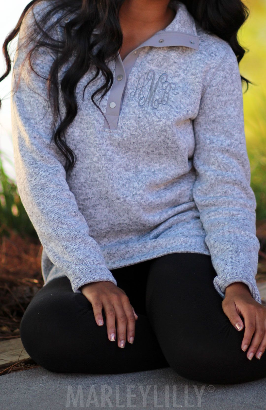LOVING this Monogrammed Heathered Pullover Tunic! Personalize ...