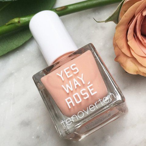 Perfect for a bridal manicure: Yes way rose nail polish tenoverten