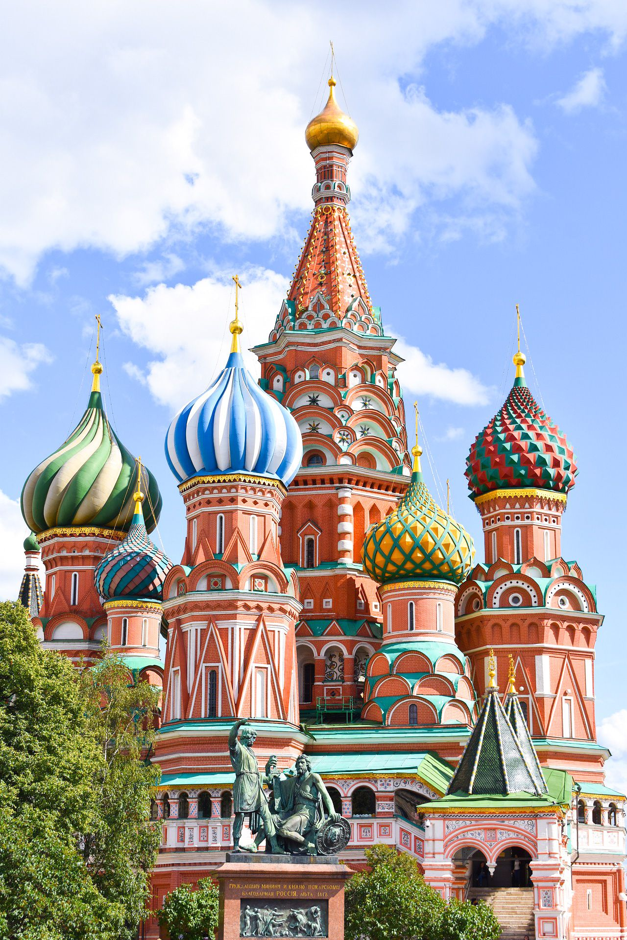 Colorful St. Basil's Cathedral is a must-see place in #Moscow #Russia Click the link to discover other beautiful places to visit in the capital of Russia #traveldestination #travelinspiration #travelrussia