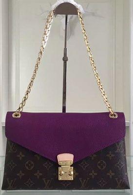 acf04825fcaf Louis Vuitton Monogram Canvas PALLAS CHAIN M41246 Purple Handbags Online