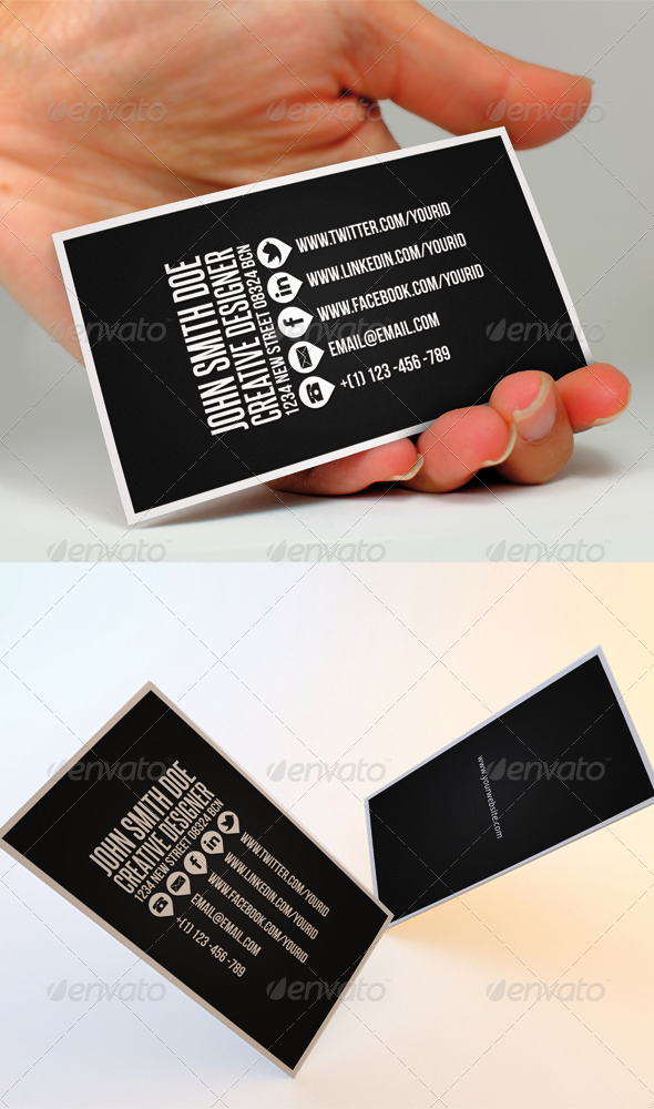 Clean Business Card II | Business cards, Business and Card templates