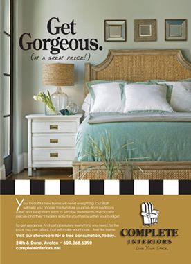 Design And Copywriting For Advertising Promotion Complete Interiors Avalon NJ Interior