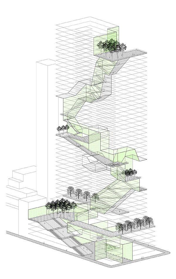 Rafi Segal, New Housing Prototypes, Vertical Landscaping urban