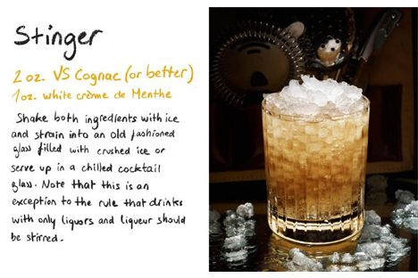 Who doesn't love vintage cocktails? This recipe for a Stinger will have guests asking for more.