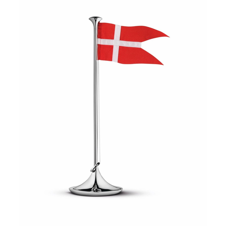 Fødselsdagsflad i farven rødog hvid fra Georg Jensen