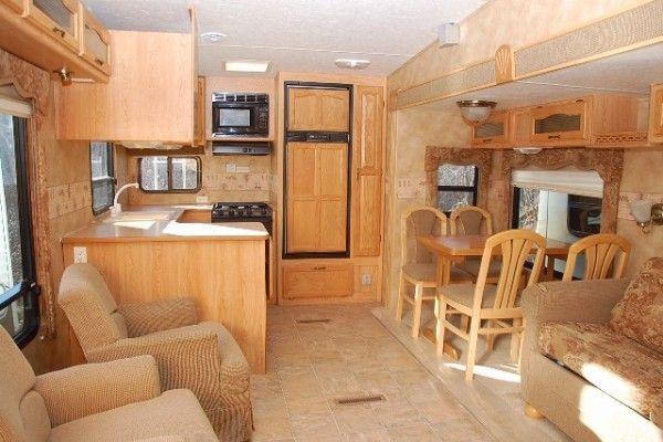 2005 Laredo 29rk Rear Kitchen Fifth Wheel Kitsmiller Rv Superstore Rv Superstore Fifth Wheel Functional Kitchen