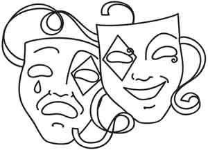 coloring pages of drama masks - photo#17