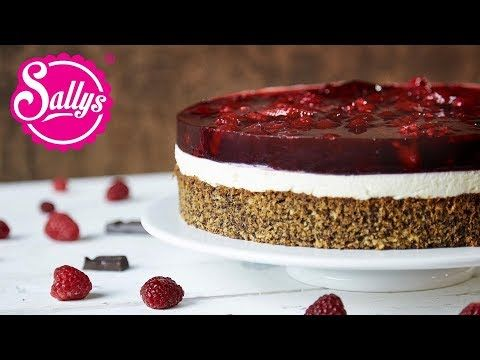 Photo of Raspberry cake with mascarpone and walnut base