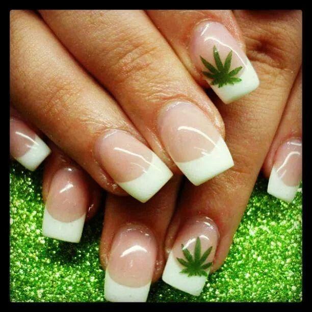 Marijuana Leafs Done Did The Pots Nails Weed Nails Nail Art