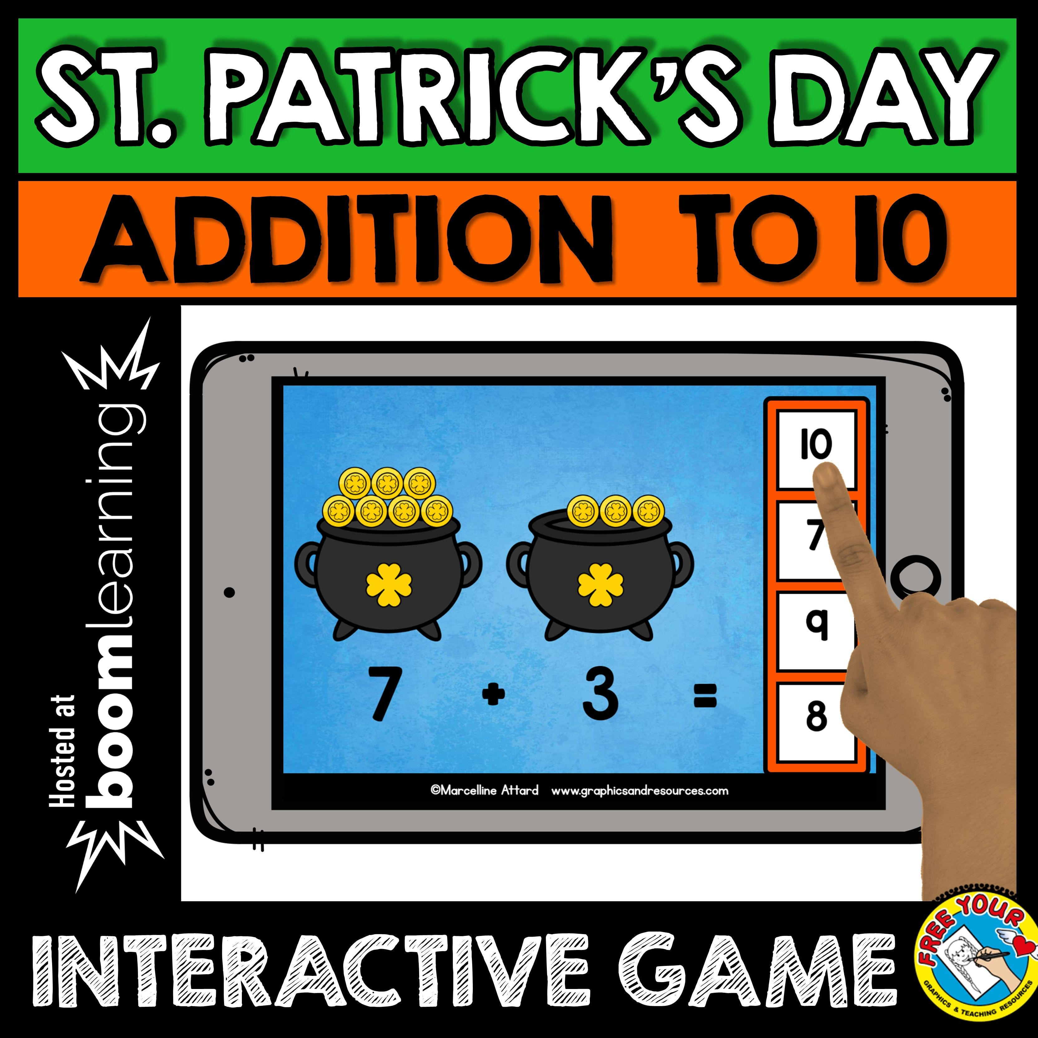 Picture Addition 1 10 St Patrick S Day Addition Game