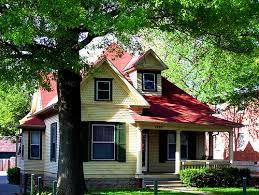 Image Result For Yellow Houses With Metal Roofs Red Roof House Yellow Houses Red Roof