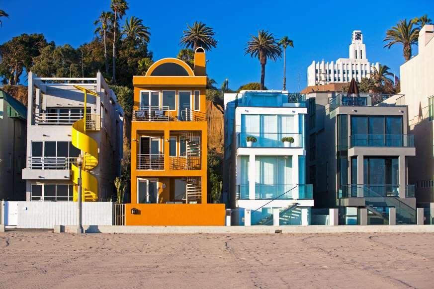 Houses On Boardwalk In Los Angeles California Home Sweet