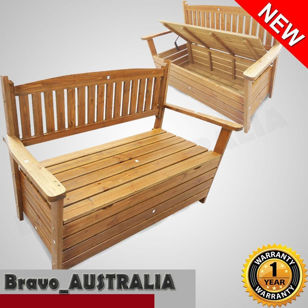 Phenomenal Wooden Outdoor Garden Storage Bench Chair Box 2 Seat Chest Uwap Interior Chair Design Uwaporg