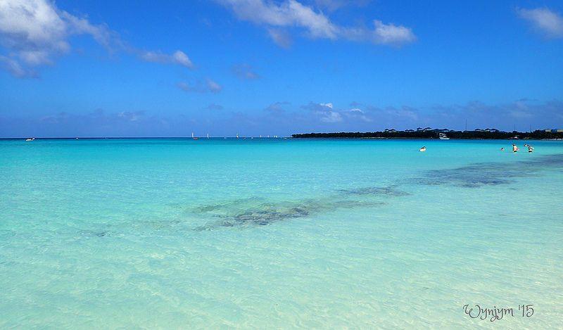 Turquoise waters, Playa Pesquero, Cuba