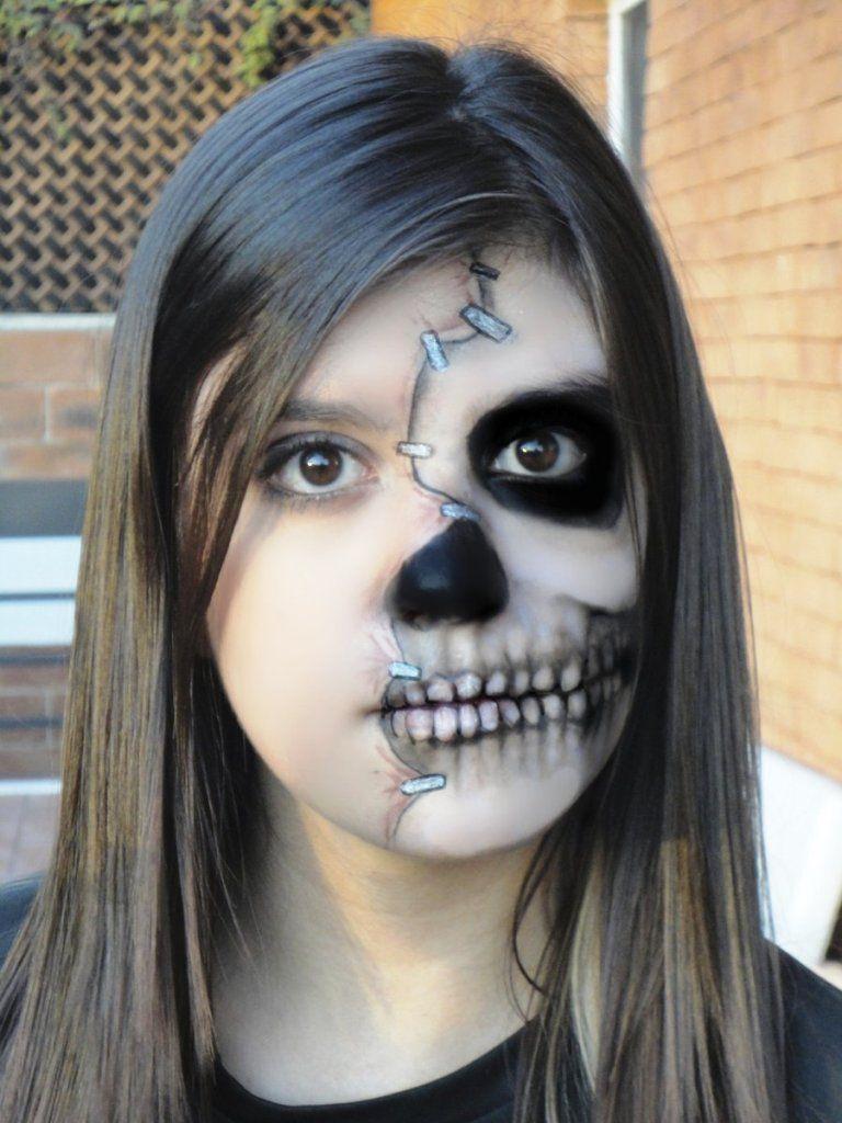 Happy Halloween Day: 15 Half Face Halloween Makeup Ideas | skull ...