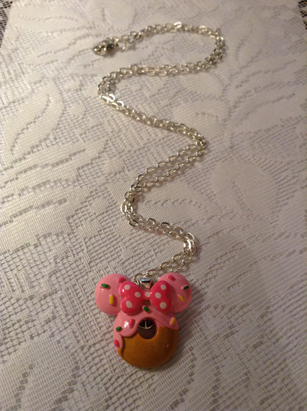 New cute minnie mouse  cabochon pendant necklace free shipping GIN