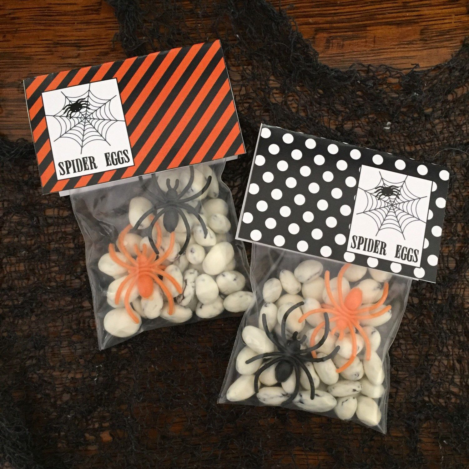Spider Eggs Halloween Tags and Bag Topper. Perfect for Halloween ...