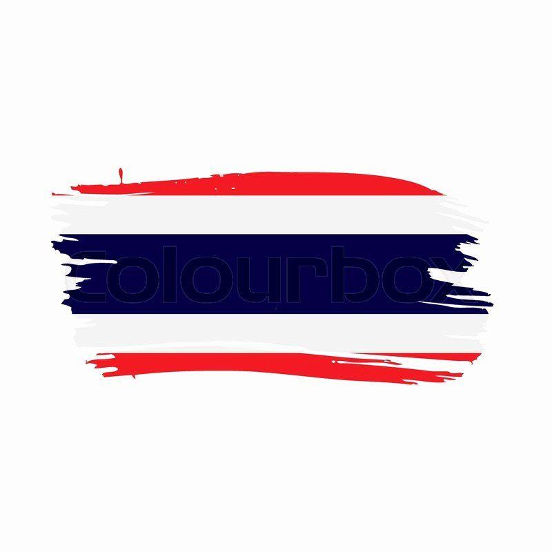 Thailand Flag Coloring Page Elegant Thailand Flag Vector