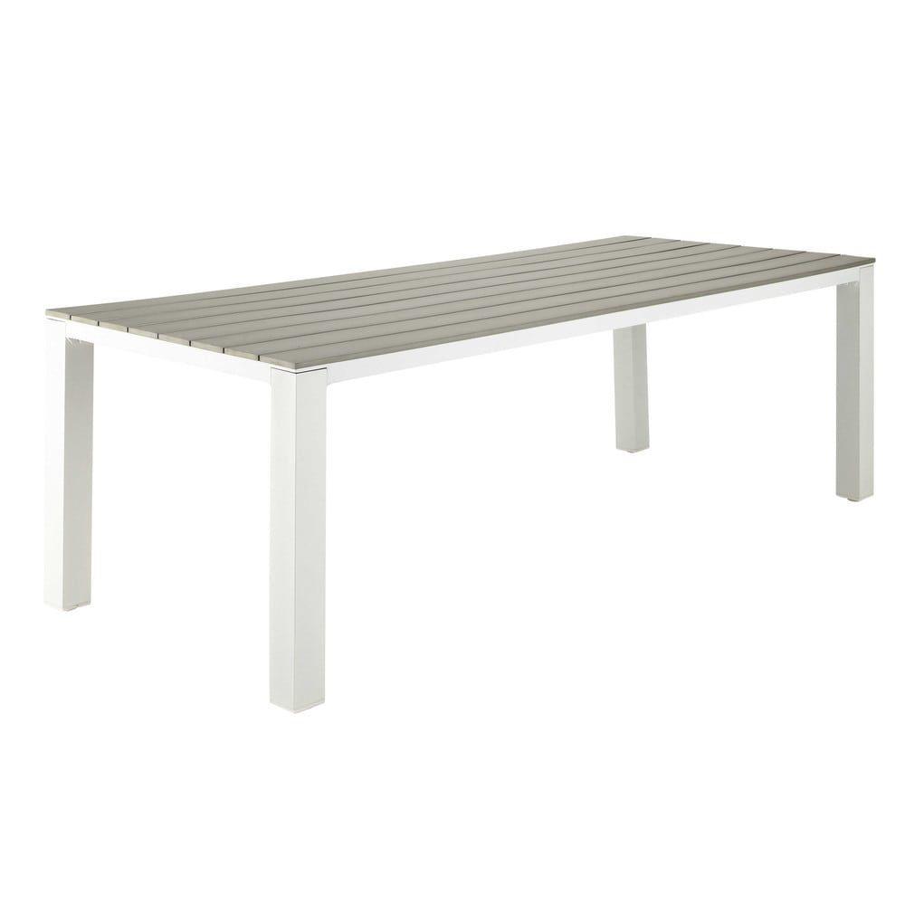 Gartentisch 8 10 Personen Aus Aluminium Und Verbundwerkstoff L230