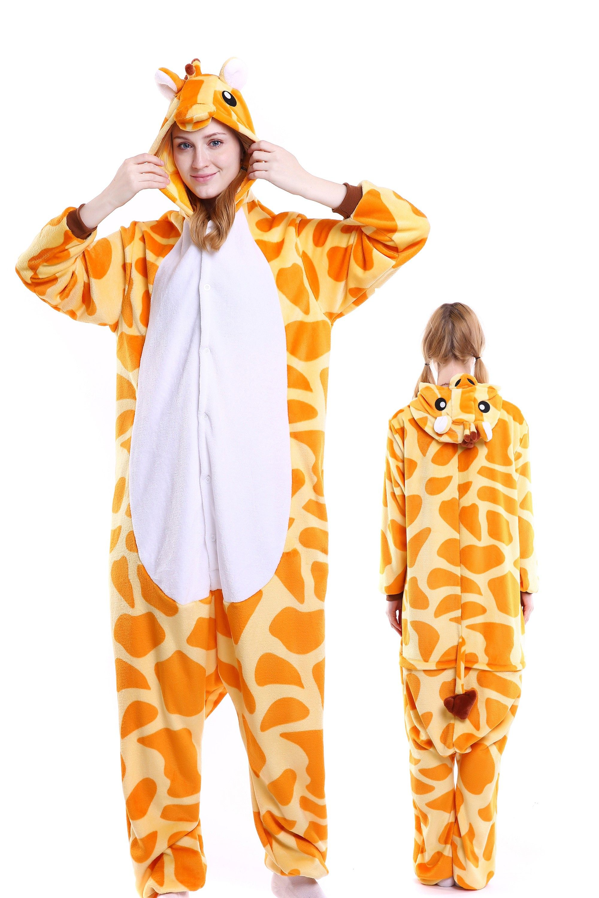 35f56db769 Giraffe Kigurumi Onesie Pajamas Soft Flannel Unisex Animal Costumes ...
