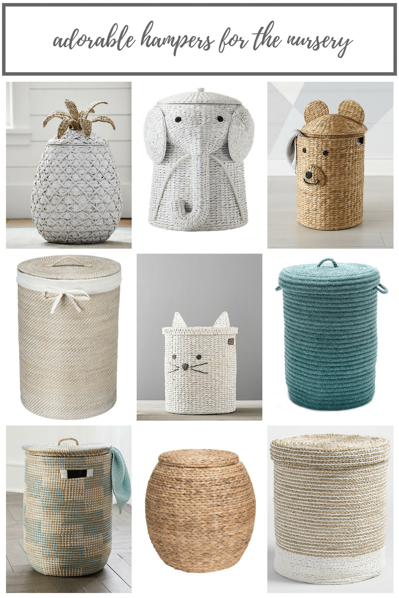 Adorable Hampers For The Nursery By Elizabeth Mayberry Oak