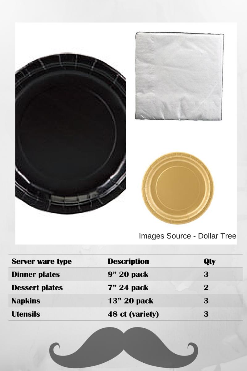 Party Supplies under $100 - Plates & Flatware