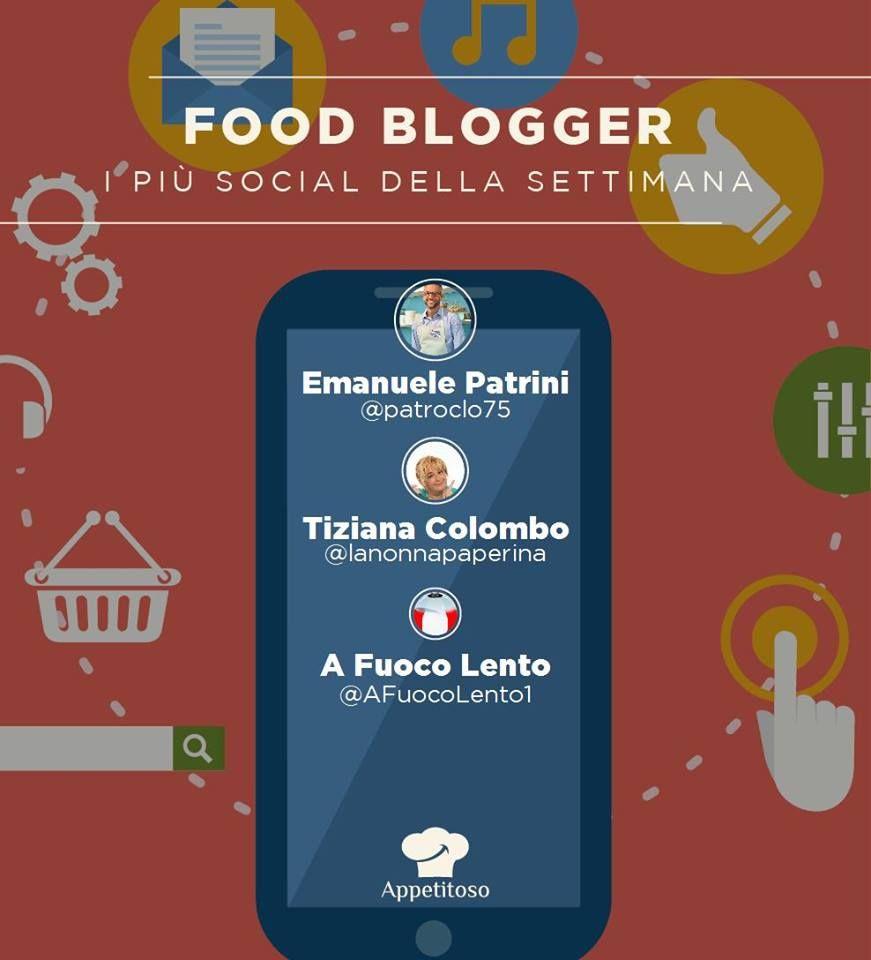 Come ogni fine settimana arriva la classifica dei food blogger più social della settimana. vince @patroclo75 seguito da @nonnapaperina e da @afuocolento1
